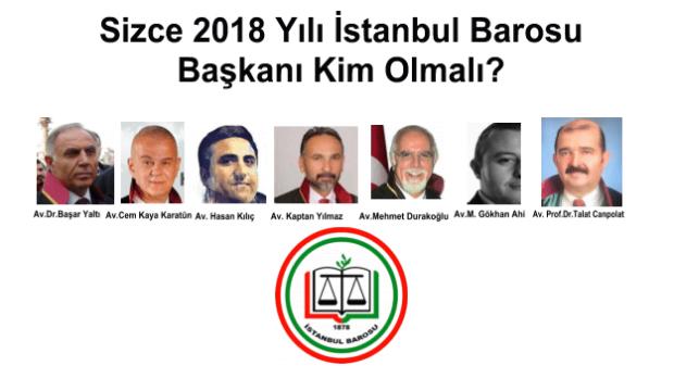 Sizce İstanbul Barosu Başkanı Kim Olmalı?