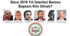 Sizce İstanbul Barosu Başkanı Kim Olmalı? İstanbul Barosu 2016 Seçimlerinde Hangi Grubu ve Adayını DESTEKLİYORSUNUZ?