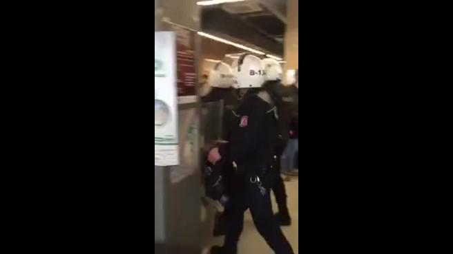 'İTÜ'de Ahrar-Uş Şam'a Yer Yok!' başlığıyla çağrı yapılan eylem öncesi polis saldırısı