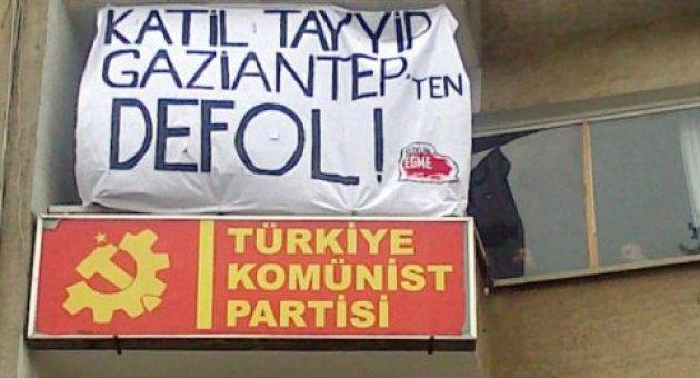 'Katil tayyip gaziantep'ten defol' diyen TKP üyelerine verilen hapis cezası ertelendi