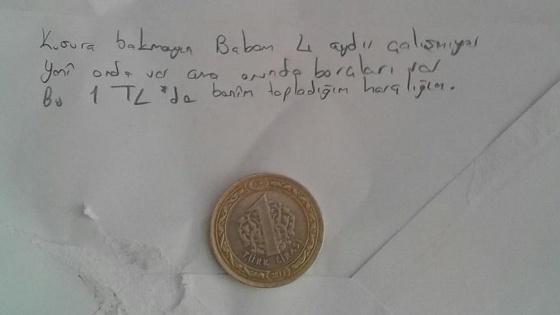 '1 lira bağışlayan' Ebru 'ayın öğrencisi' seçildi