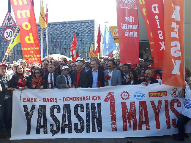 1 Mayıs 1977'de Taksim'de katledilen işçiler anıldı
