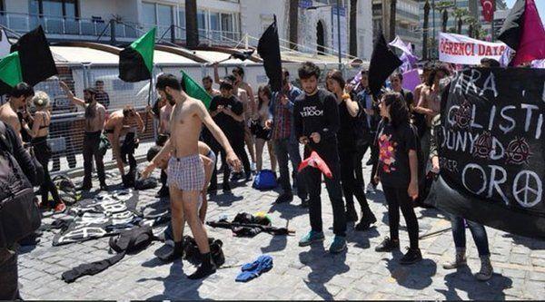 1 Mayıs'taki çıplak protestoya gözaltı