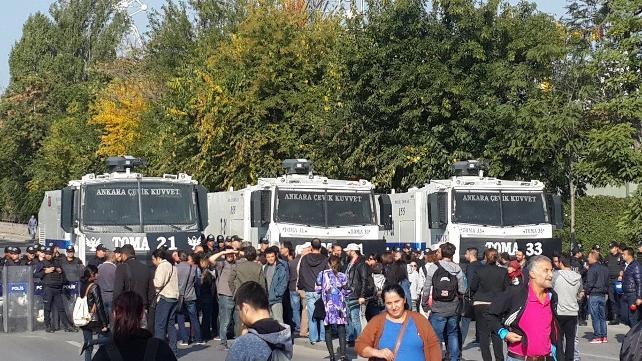10 Ekim Katliamı'nı anmak isteyenlere Ankara'da polis müdahalesi