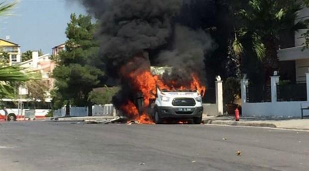 112 Ambulans Servisi'nde oksijen tüpü patladı
