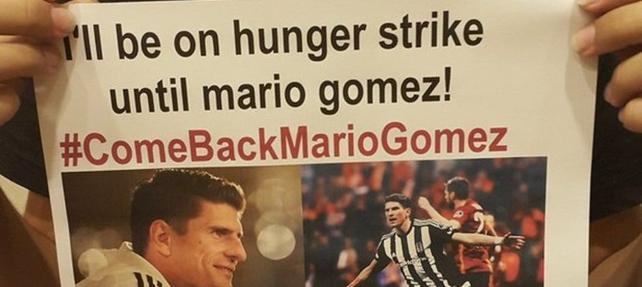 14 yaşındaki taraftar, Mario Gomez için açlık grevine başladı