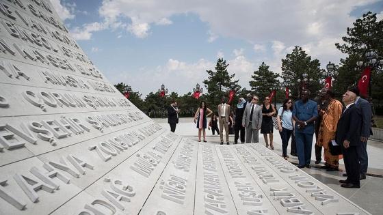 15 Temmuz Şehitler Abidesi'ne ilk yabancı heyet ziyareti