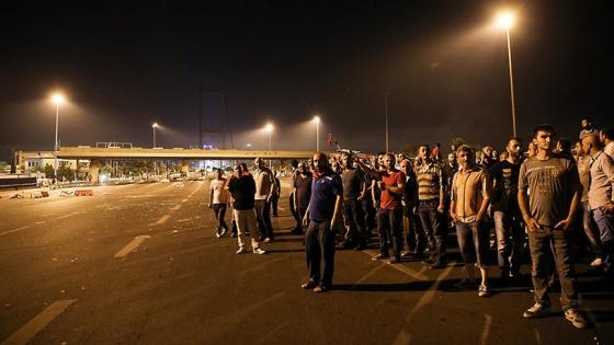 15 Temmuz Şehitler Köprüsü'ndeki askerlerin iletişim trafiği