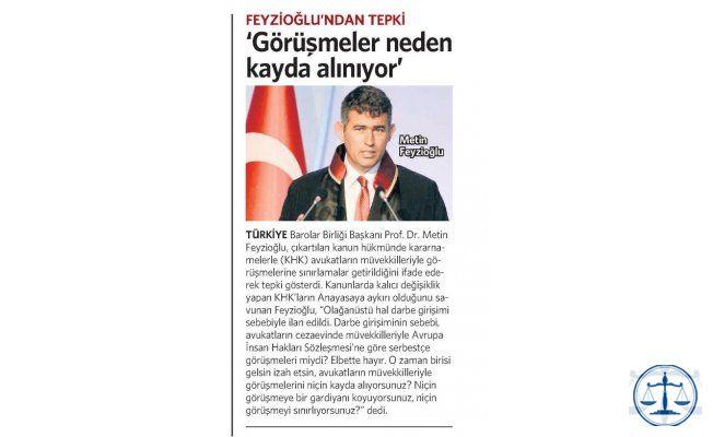 FEYZİOĞLU'NDAN TEPKİ 'Görüşmeler neden kayda alınıyor'