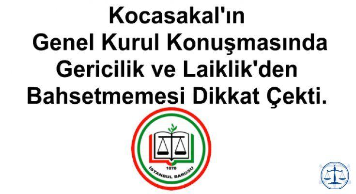 Kocasakal'ın Genel Kurul Konuşmasında Gericilik ve Laiklik'den Bahsetmemesi Dikkat Çekti.