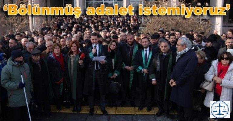 AVUKATLARDAN 'TAŞINMA' PROTESTOSU