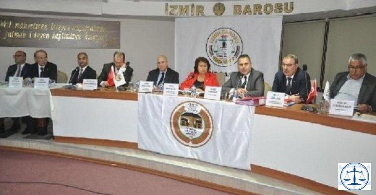 İzmir Barosu'ndan KHK bildirisi; SINIRLAMALAR DERHAL KALDIRILMALI