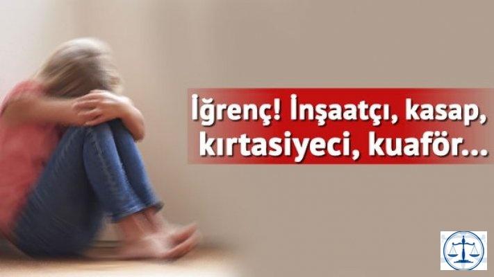 Zihinsel engelli çocuğa cinsel istismardan 10 sanığa 44.5'ar yıl hapis cezası istemi
