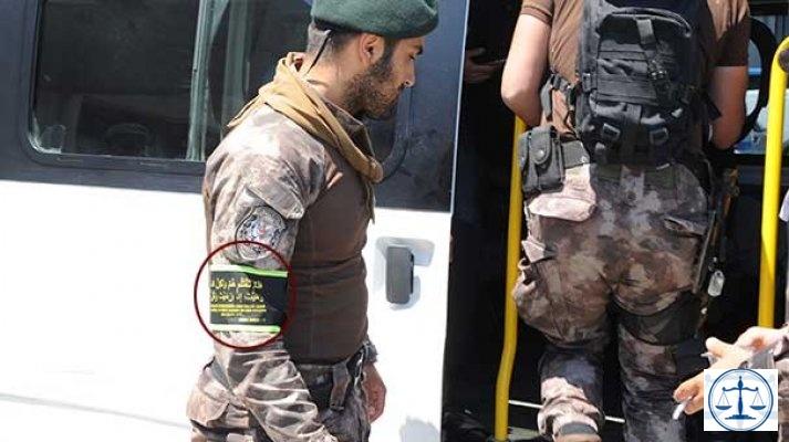 Şehit polisin arkadaşının kolunda dikkat çeken sure