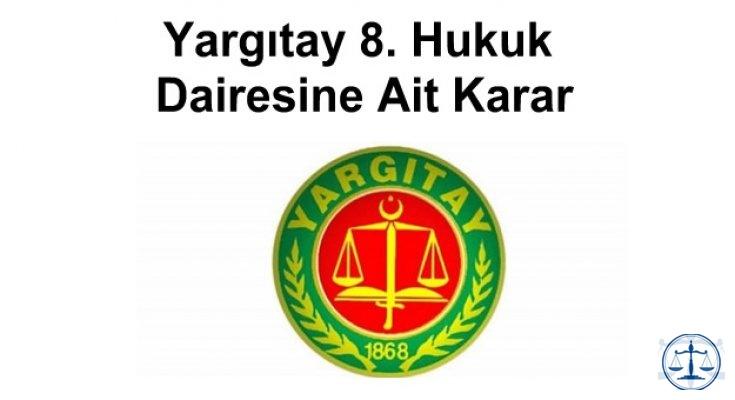 Yargıtay 8. Hukuk Dairesine Ait Karar