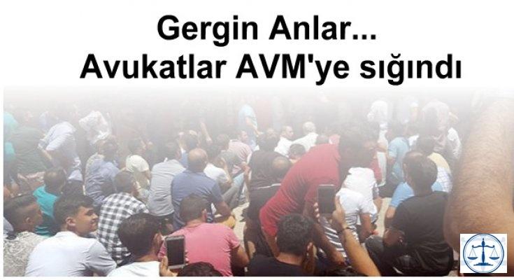 Kuşadası gergin anlar... Avukatlar AVM'ye sığındı