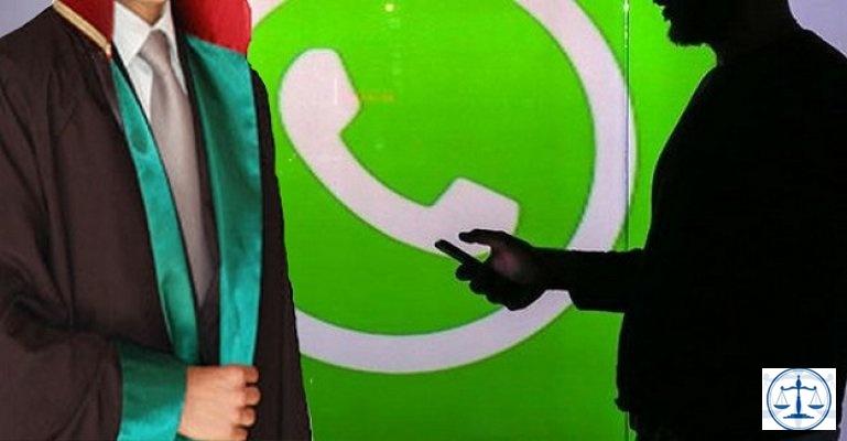 Avukat ile müvekkili arasında geçen WhatsApp yazışması
