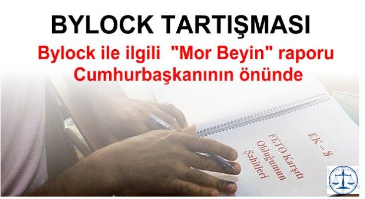 Bylock ile ilgili  Mor Beyin raporu Cumhurbaşkanının önünde