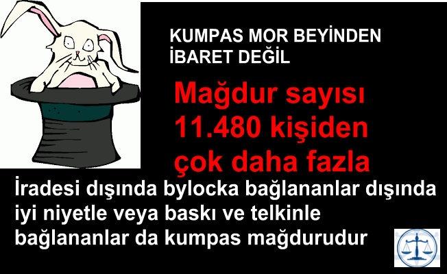 Bylock Kumpas Mağduru 11.480 kişiden çok daha fazladır