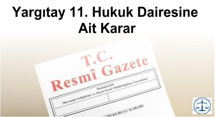 Yargıtay 11. Hukuk Dairesine Ait Karar