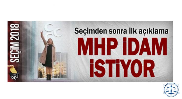 MHP idam istiyor