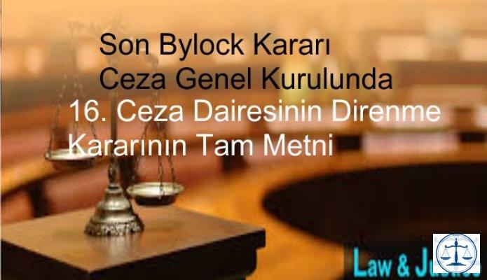Son Bylock  Kararı Ceza Genel Kurulunda