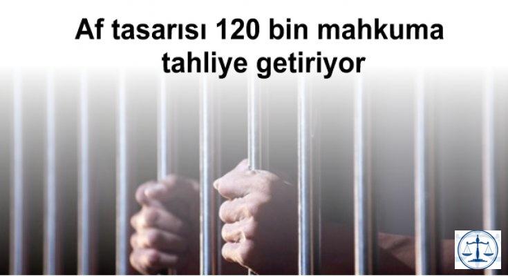 Af tasarısı 120 bin mahkuma tahliye getiriyor