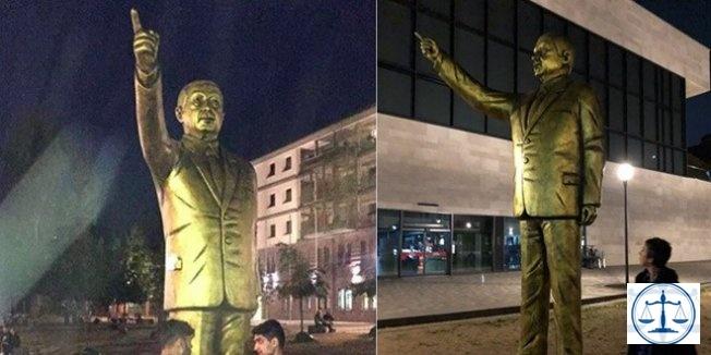 Almanya'da bir garip Erdoğan heykeli