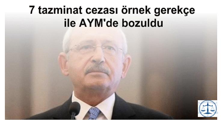 CHP Lideri'ne verilen 7 tazminat cezası yargıdan döndü.