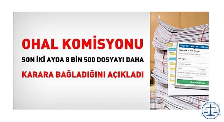 OHAL Komisyonu, son iki ayda, 8 bin 500 dosyayı daha karara bağladı