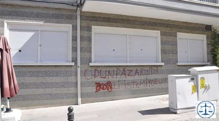 Eskişehir'de hukuk bürosuna saldırı