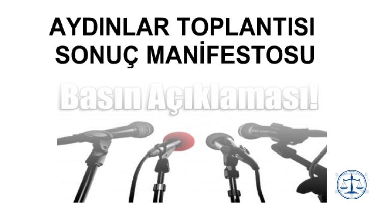 26 EYLÜL 2018 AYDINLAR TOPLANTISI SONUÇ MANİFESTOSU