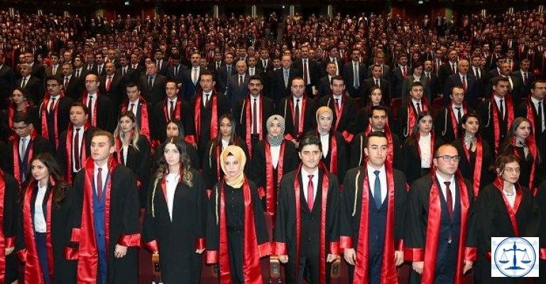 2 bin 83 hakim ve savcı mesleğe ilk adımı attı