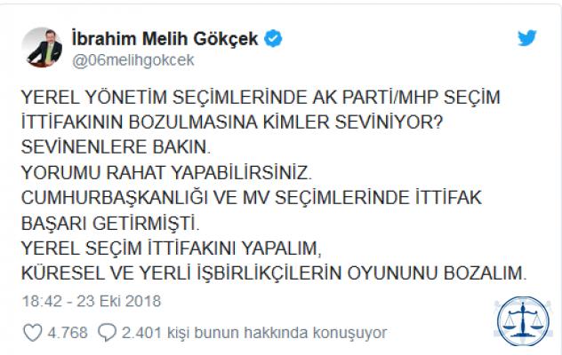 MHP'de Ankara için Gökçek iddiası