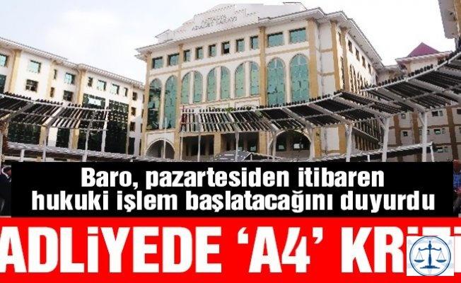 Antalya Adliyesi'nde 'A4 kağıdı' krizi