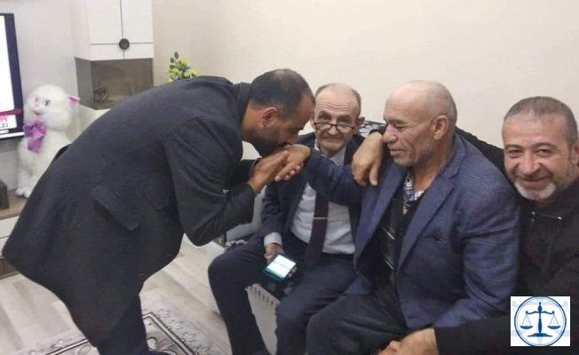 AKP'li belediye başkan aday adayı saldırgan Osman Sarıgün'ün ziyaretine gitti!
