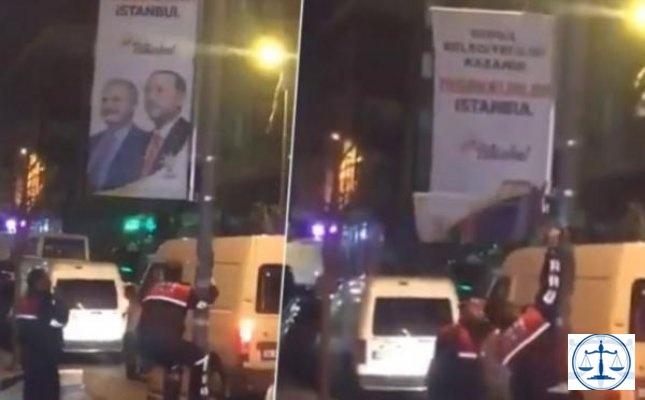 AKP'nin 'Teşekkürler İstanbul Gönül Belediyeciliği Kazandı' pankartları söküldü
