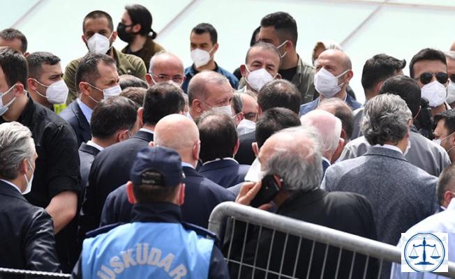 Erdoğan'ın katıldığı cenaze töreni hakkında suç duyurusu