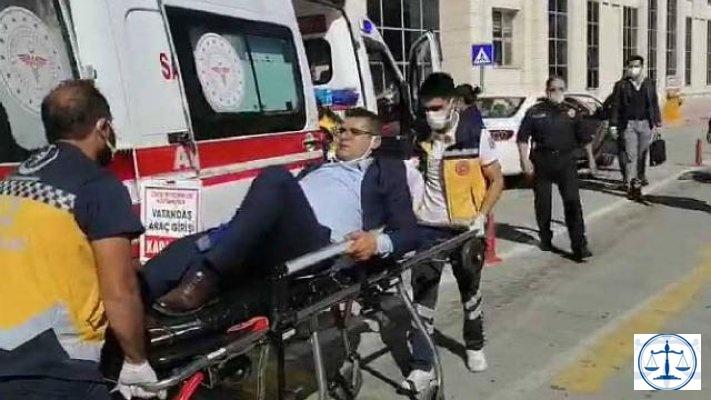 Avukata adliye otoparkında silahlı saldırı!