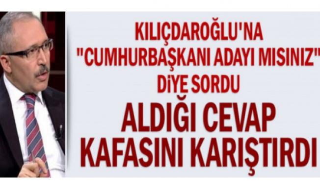 """Kılıçdaroğlu'na """"cumhurbaşkanı adayı mısınız"""" diye sordu aldığı cevap kafasını karıştırdı"""