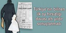 Türkiye'nin bilinen ilk oy hırsızlığı davası altı yıldır sonuçlanmadı