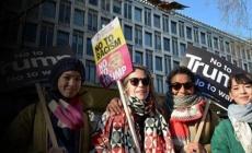 Dünyada kadınlar Trump'a karşı ayakta