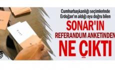 Cumhurbaşkanlığı seçimlerinde Erdoğan'ın aldığı oyu doğru bilen SONAR'ın referandum anketinden ne çıktı