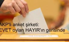 AKP'li anket şirketi: EVET oyları HAYIR'ın gerisinde