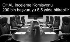 OHAL İnceleme Komisyonu 200 bin başvuruyu 8.5 yılda bitirebilir