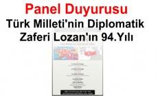 Türk Milleti'nin Diplomatik Zaferi Lozan'ın 94.Yılı