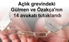 Açlık grevindeki Gülmen ve Özakça'nın 14 avukatı tutuklandı