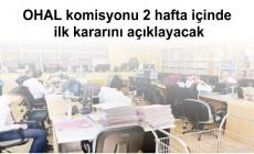 OHAL komisyonu 2 hafta içinde ilk kararını açıklayacak