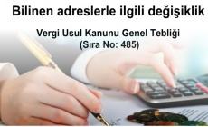 Vergi Usul Kanunu Genel Tebliği (Sıra No: 485)