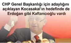 CHP Genel Başkanlığı için adaylığını açıklayan Kocasakal'ın hedefinde de Erdoğan gibi Kaftancıoğlu vardı